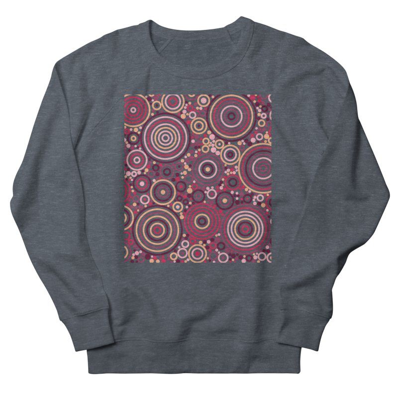 Concentric concentrate (reds) Men's Sweatshirt by Robot Molecule