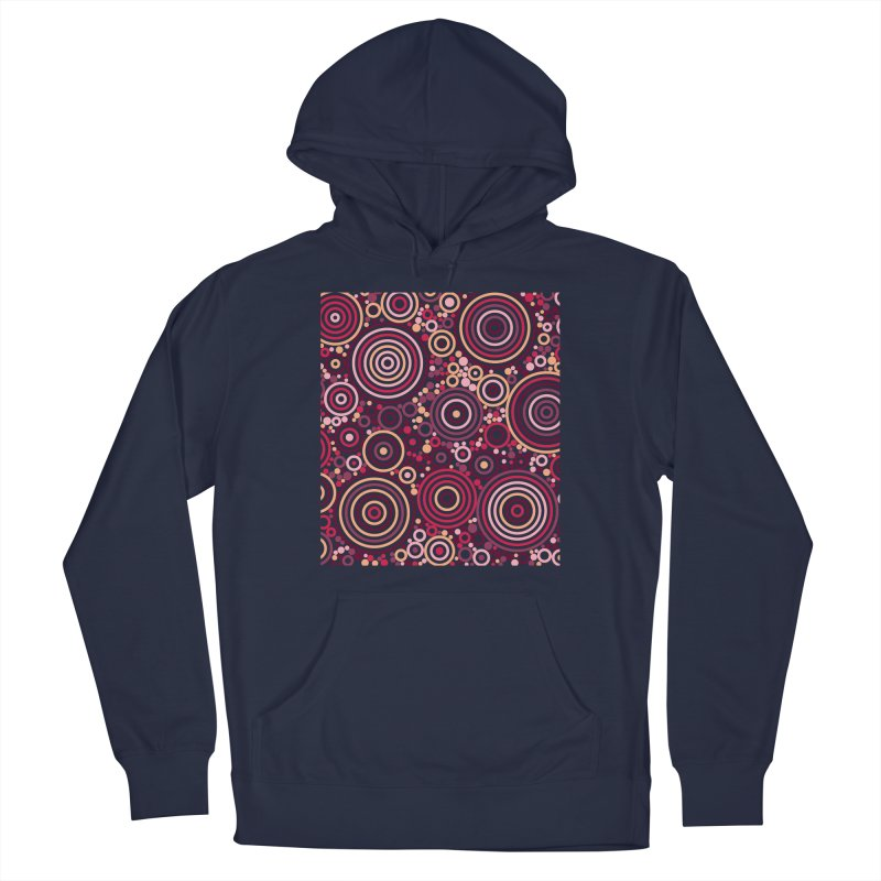Concentric concentrate (reds) Men's Pullover Hoody by Robot Molecule