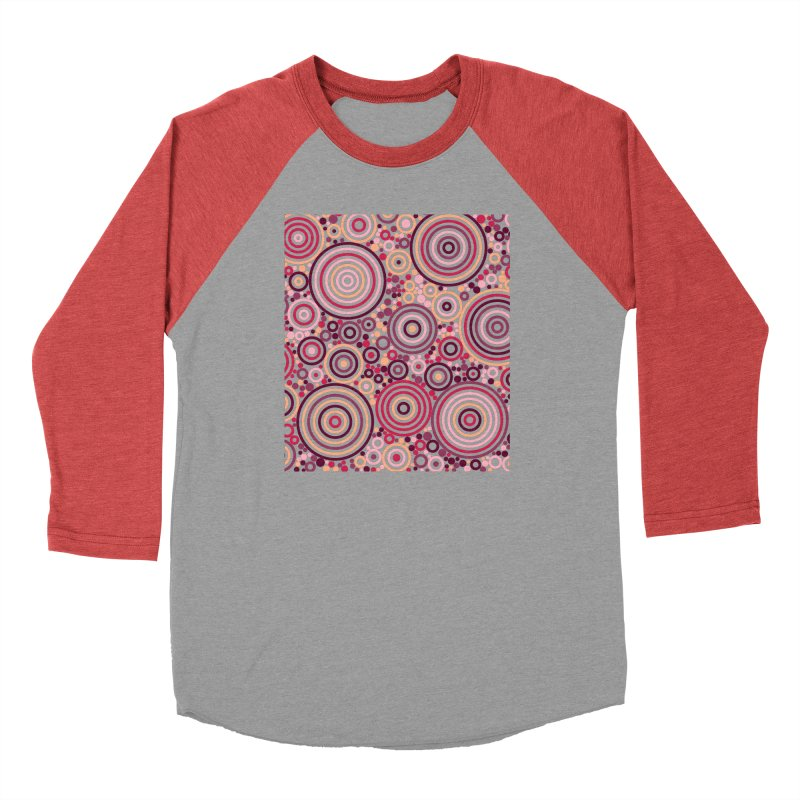 Concentric concentrate (reds) Men's Longsleeve T-Shirt by Robot Molecule