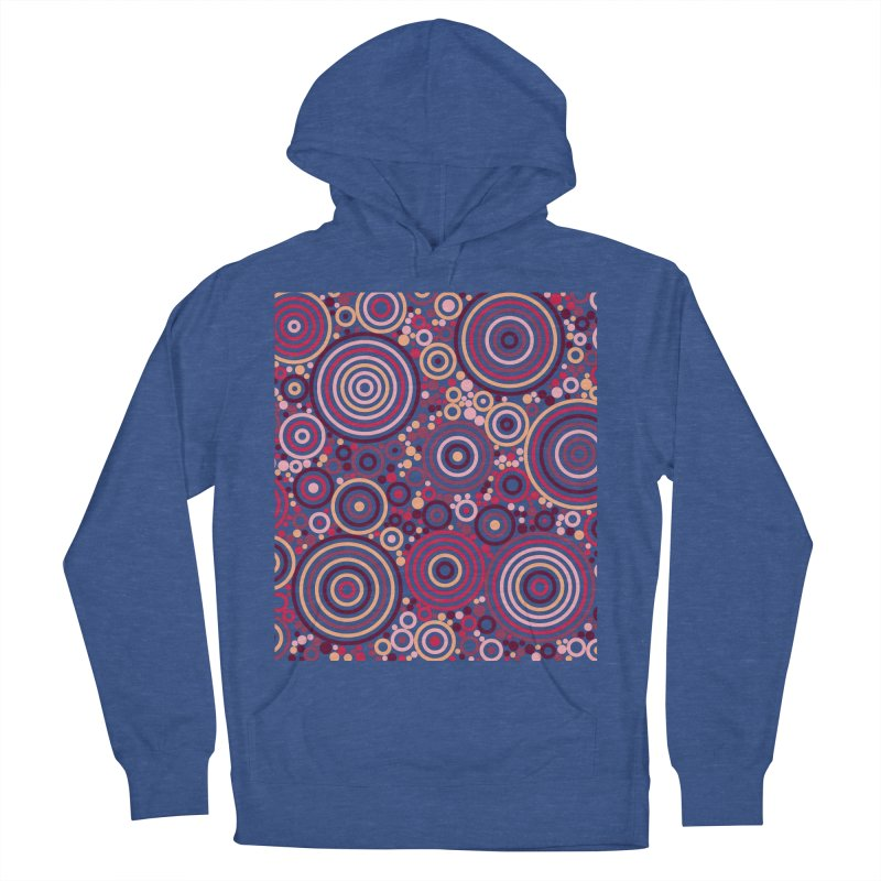Concentric concentrate (reds) Women's French Terry Pullover Hoody by Robot Molecule