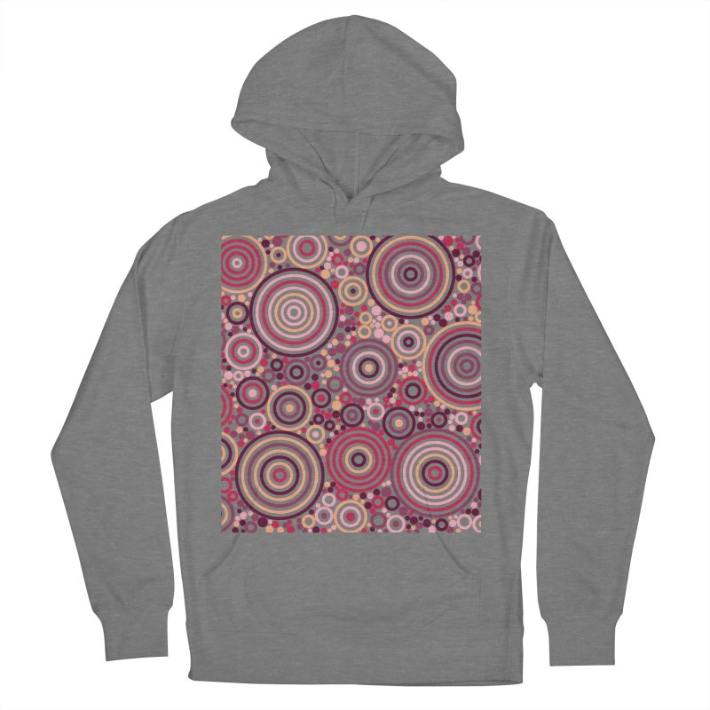 Concentric concentrate (reds) Women's Pullover Hoody by Robot Molecule