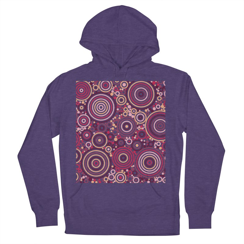 Concentric concentrate (reds) Men's French Terry Pullover Hoody by Robot Molecule