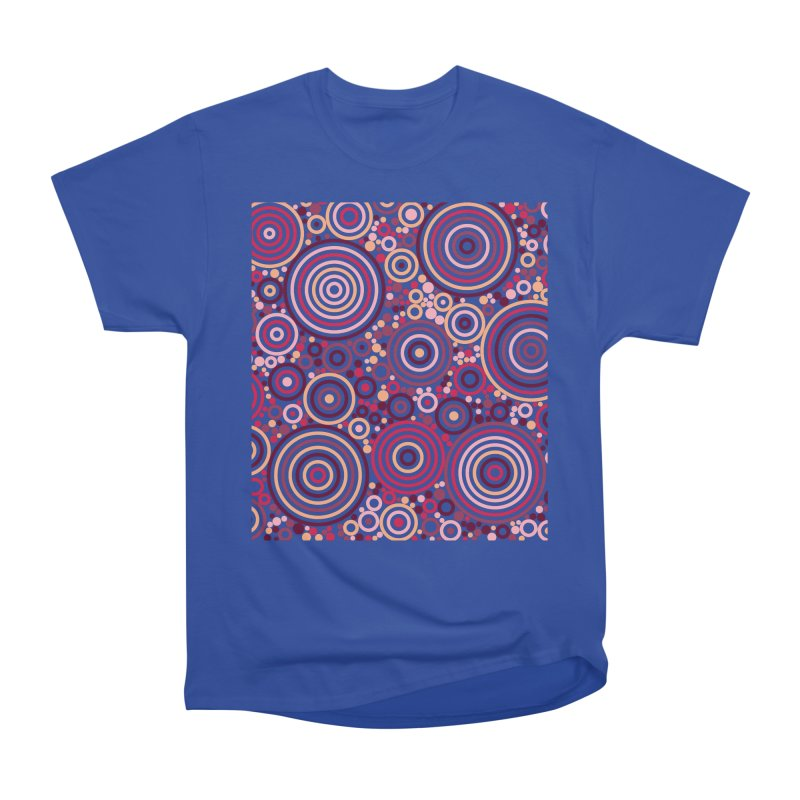 Concentric concentrate (reds) Women's Heavyweight Unisex T-Shirt by Robot Molecule