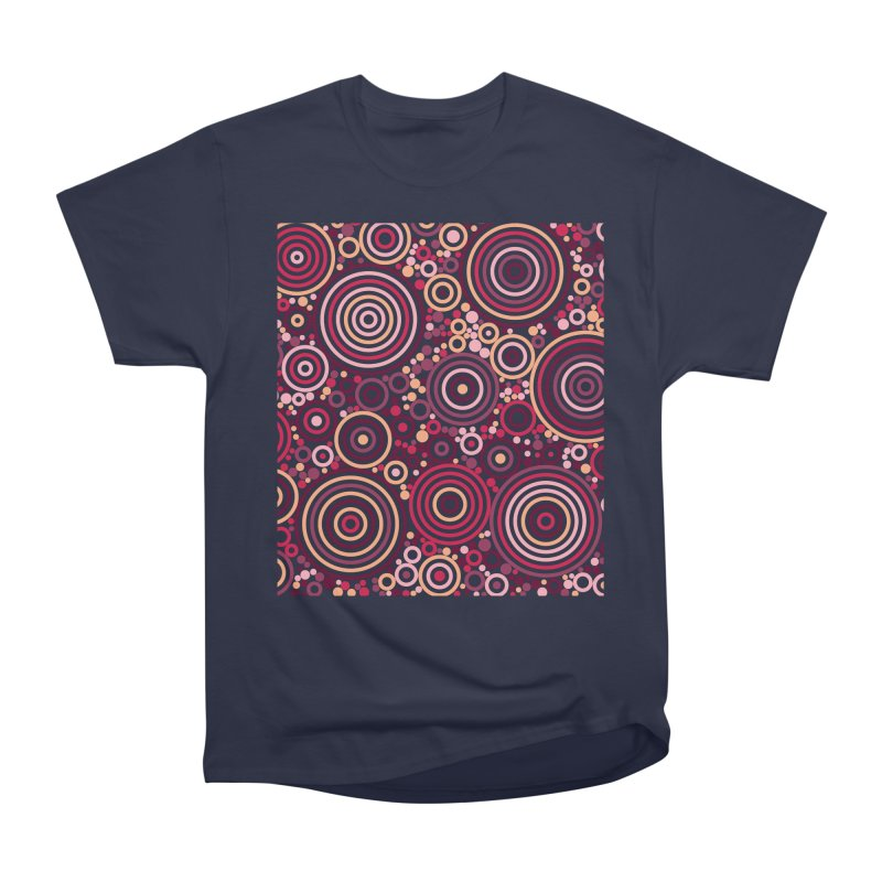 Concentric concentrate (reds) Men's Heavyweight T-Shirt by Robot Molecule