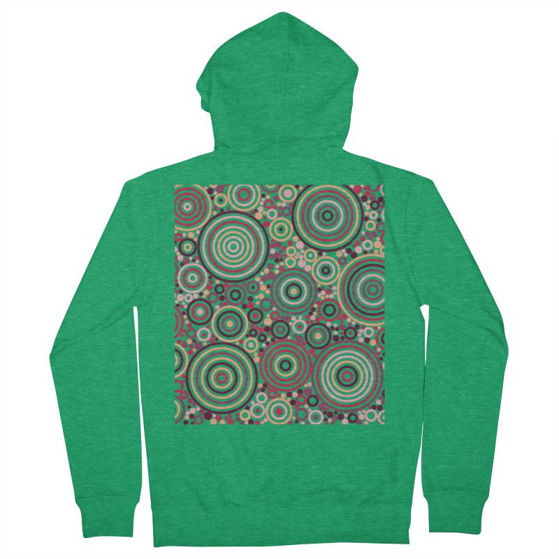 Concentric concentrate (reds) Women's Zip-Up Hoody by Robot Molecule