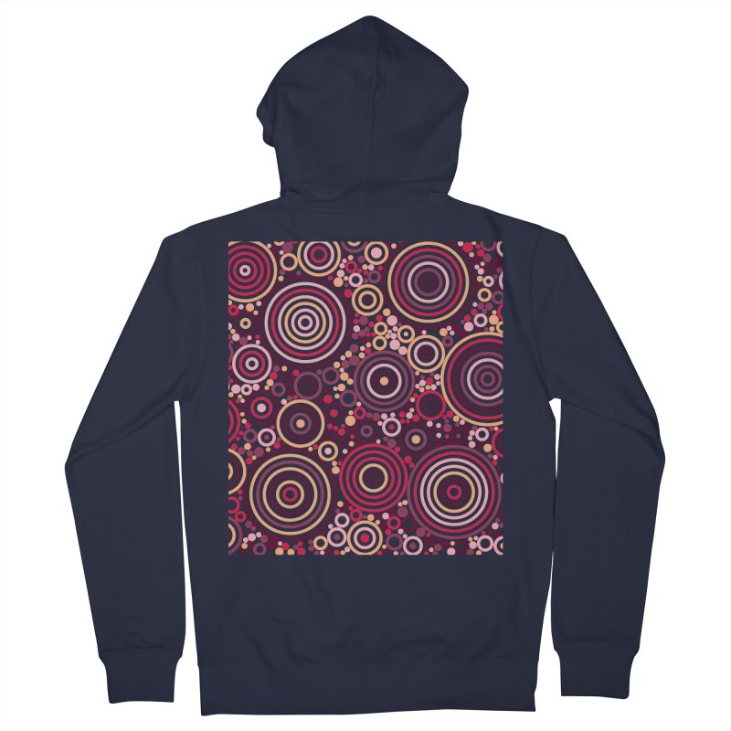 Concentric concentrate (reds) Men's Zip-Up Hoody by Robot Molecule