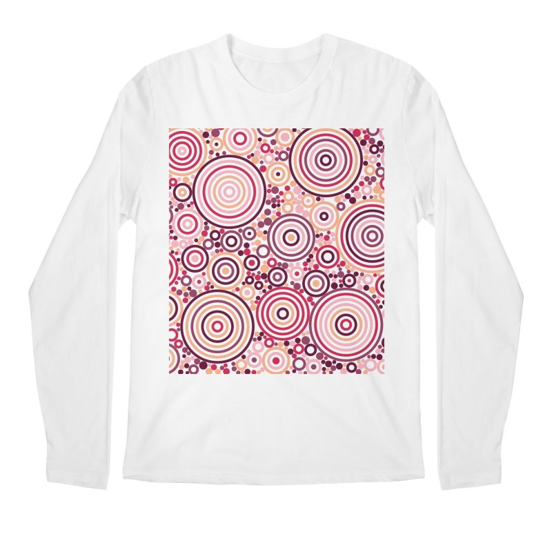 Concentric concentrate (reds) Men's Regular Longsleeve T-Shirt by Robot Molecule