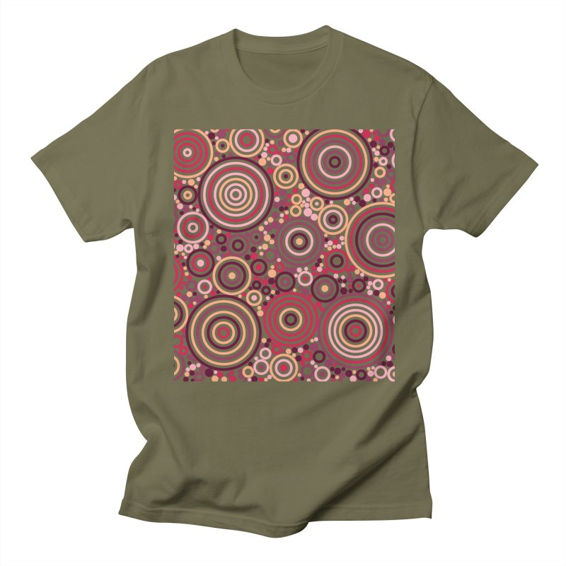 Concentric concentrate (reds) Men's Regular T-Shirt by Robot Molecule