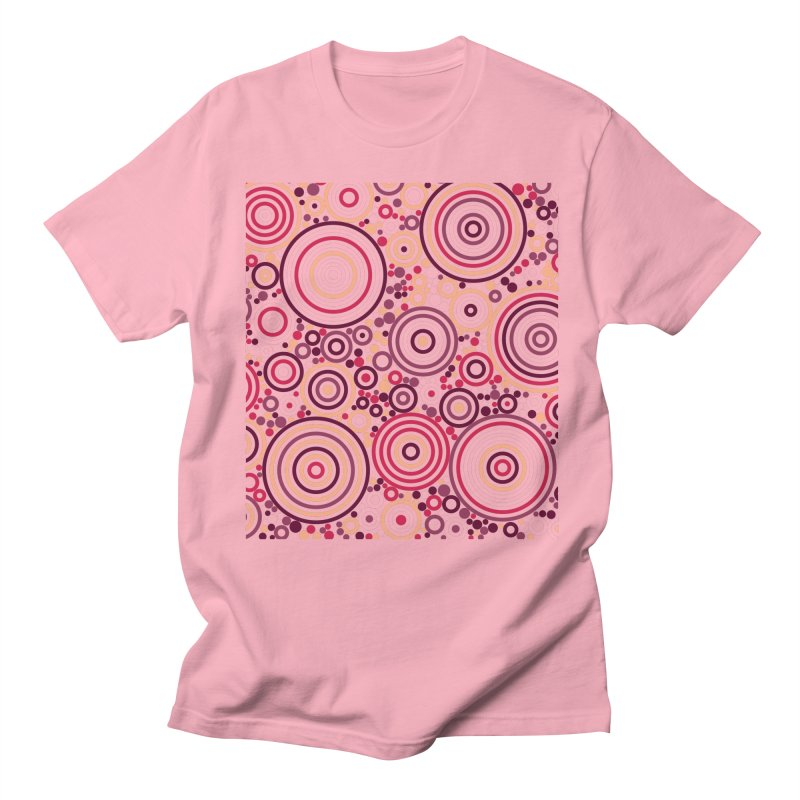 Concentric concentrate (reds) Women's T-Shirt by Robot Molecule