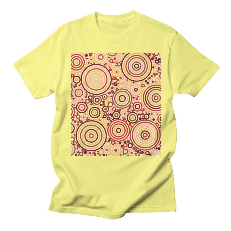 Concentric concentrate (reds) Women's Regular Unisex T-Shirt by Robot Molecule