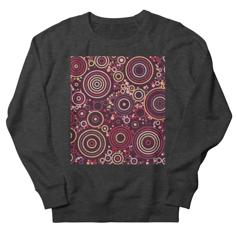 Concentric concentrate (reds) Women's French Terry Sweatshirt by Robot Molecule