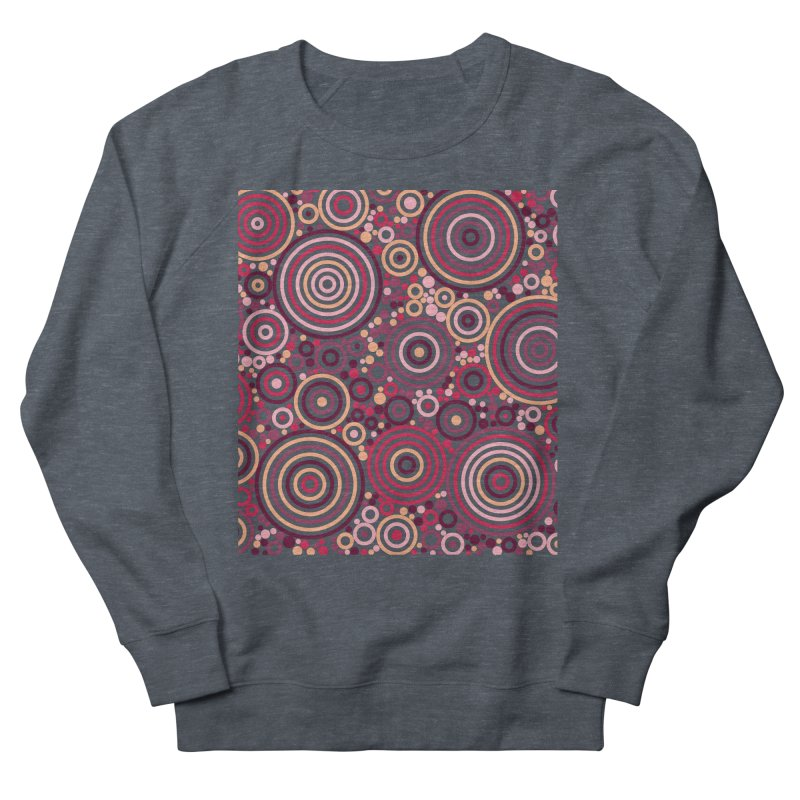 Concentric concentrate (reds) Men's French Terry Sweatshirt by Robot Molecule