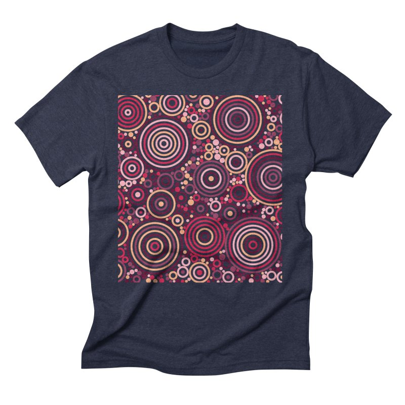 Concentric concentrate (reds) Men's Triblend T-Shirt by Robot Molecule