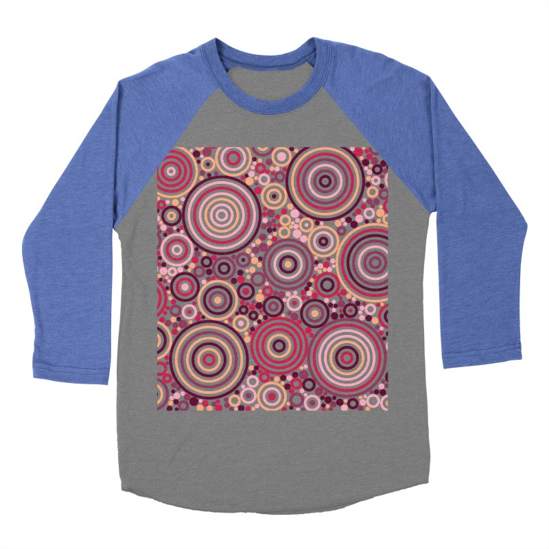 Concentric concentrate (reds) Women's Baseball Triblend Longsleeve T-Shirt by Robot Molecule