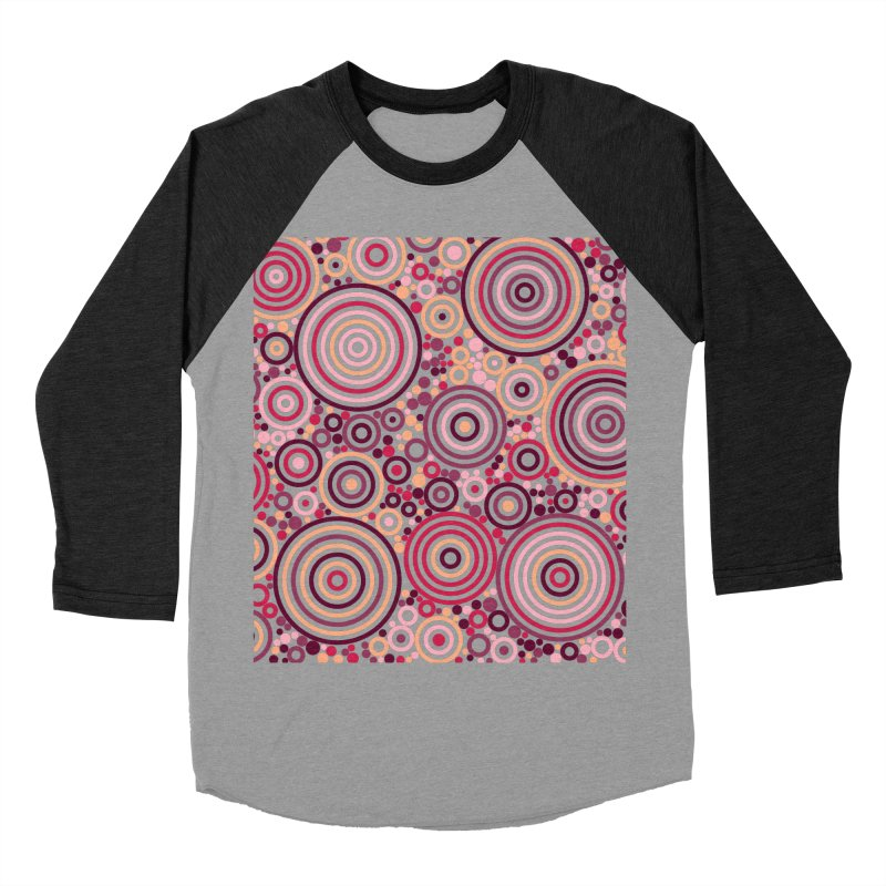Concentric concentrate (reds) Men's Baseball Triblend Longsleeve T-Shirt by Robot Molecule