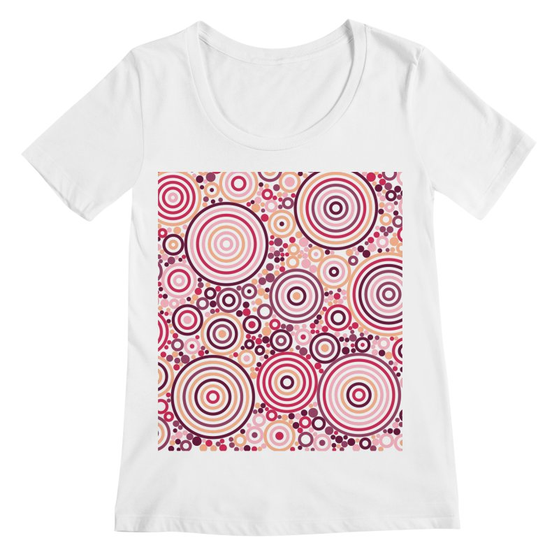 Concentric concentrate (reds) Women's Regular Scoop Neck by Robot Molecule