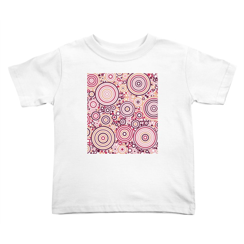 Concentric concentrate (reds) Kids Toddler T-Shirt by Robot Molecule