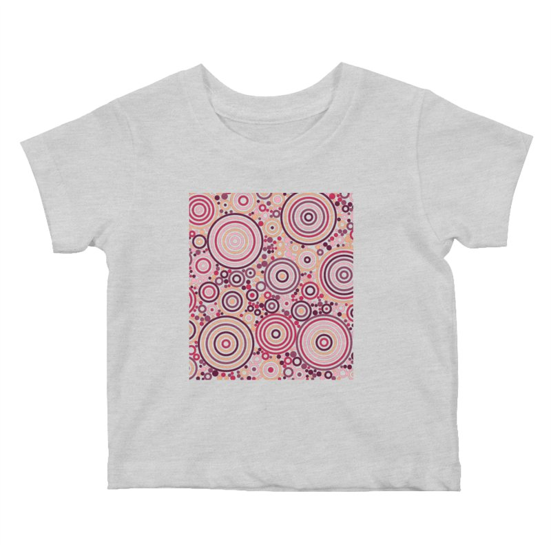 Concentric concentrate (reds) Kids Baby T-Shirt by Robot Molecule