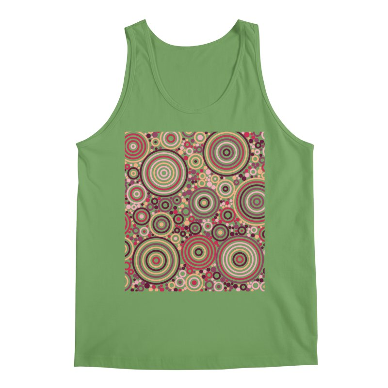 Concentric concentrate (reds) Men's Tank by Robot Molecule