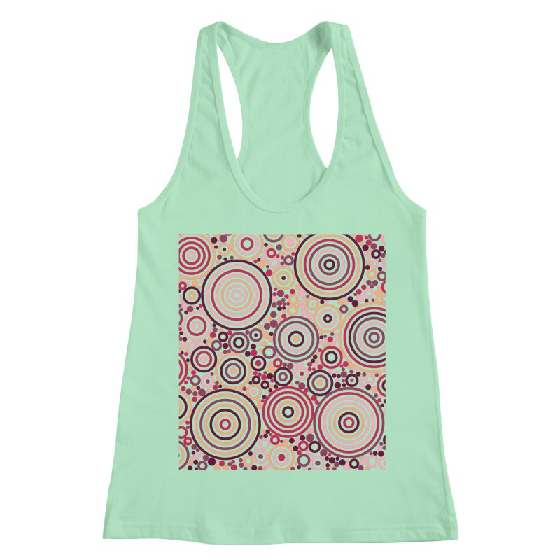 Concentric concentrate (reds) Women's Racerback Tank by Robot Molecule