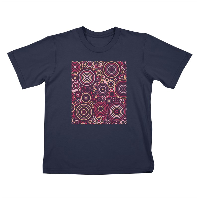 Concentric concentrate (reds) Kids T-Shirt by Robot Molecule