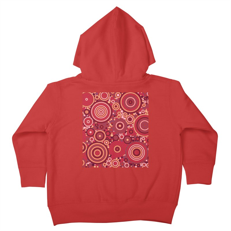 Concentric concentrate (reds) Kids Toddler Zip-Up Hoody by Robot Molecule