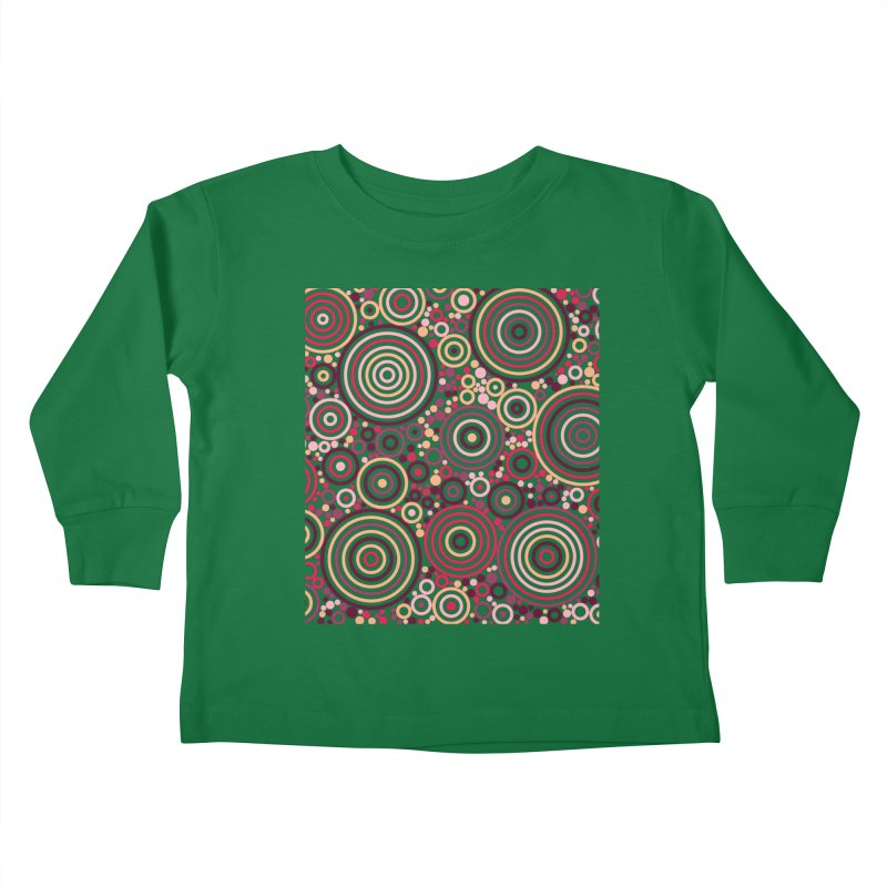Concentric concentrate (reds) Kids Toddler Longsleeve T-Shirt by Robot Molecule
