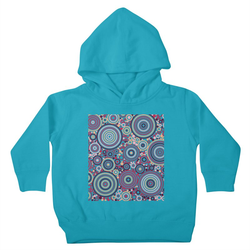 Concentric concentrate (reds) Kids Toddler Pullover Hoody by Robot Molecule