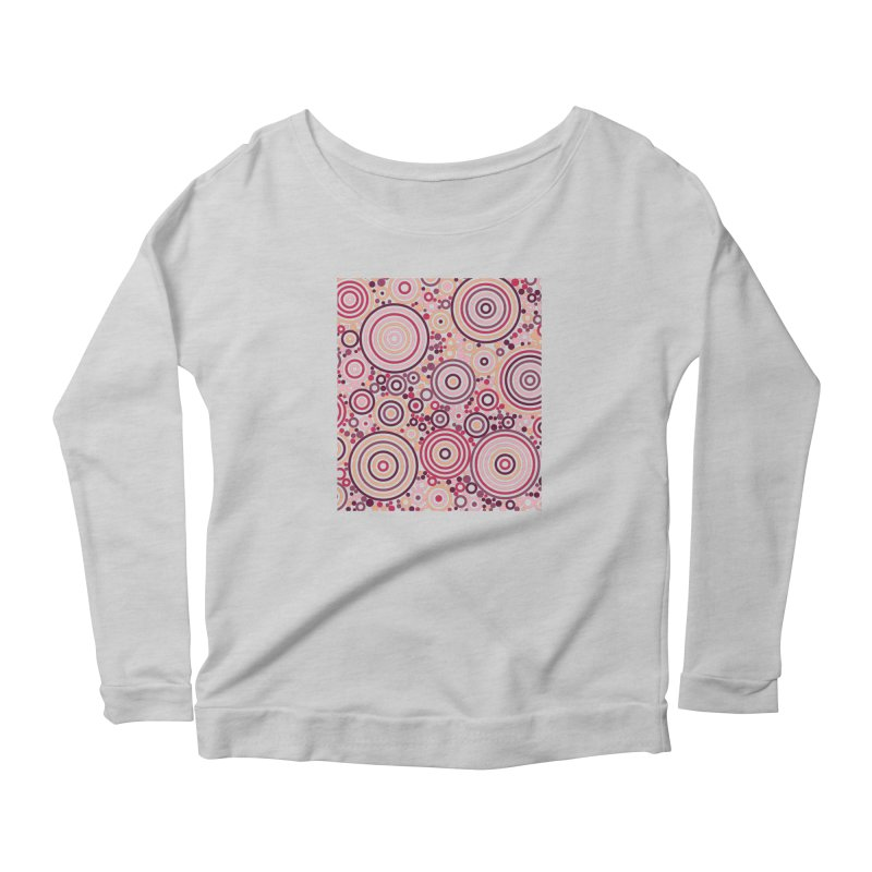 Concentric concentrate (reds) Women's Longsleeve T-Shirt by Robot Molecule