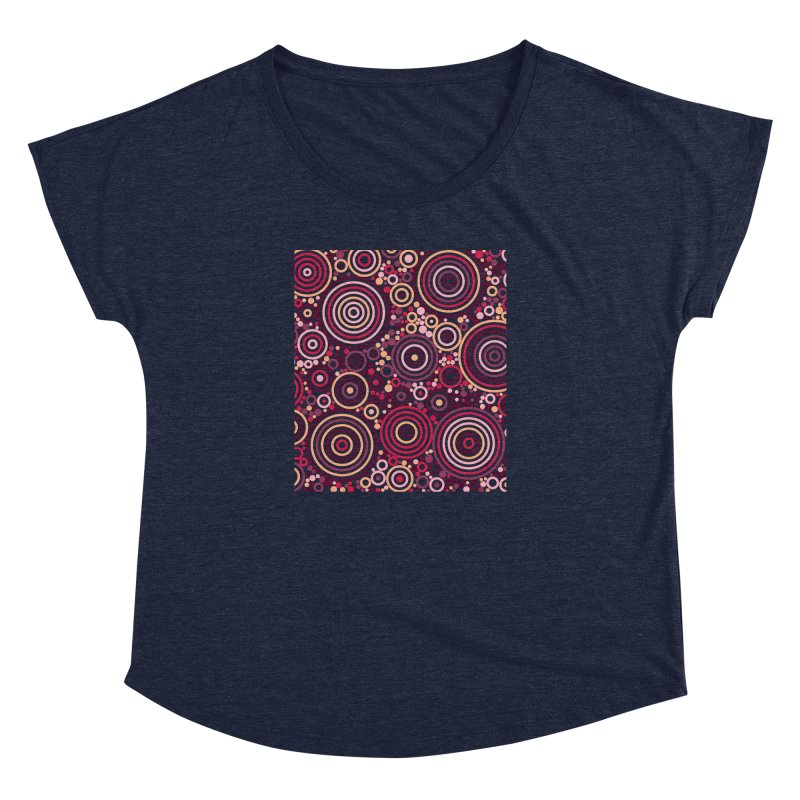 Concentric concentrate (reds) Women's Dolman Scoop Neck by Robot Molecule
