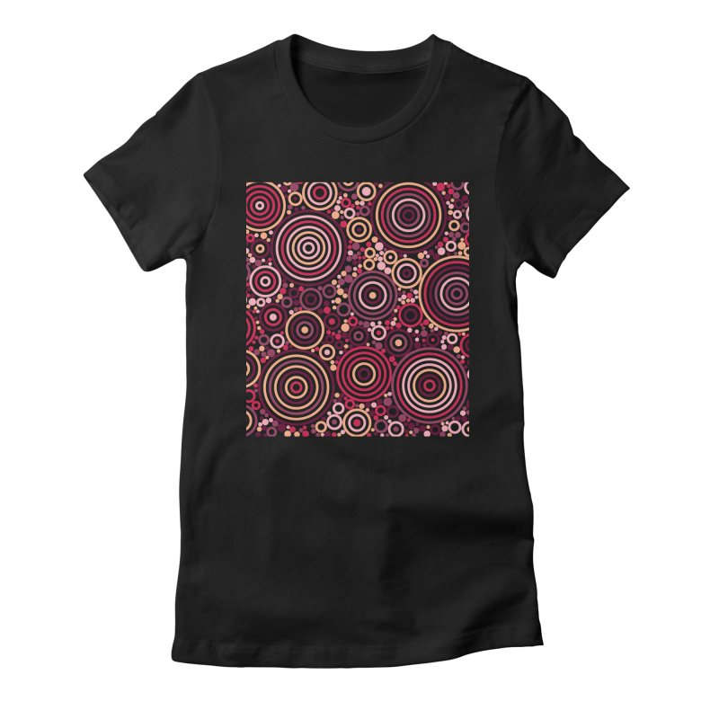 Concentric concentrate (reds) Women's Fitted T-Shirt by Robot Molecule