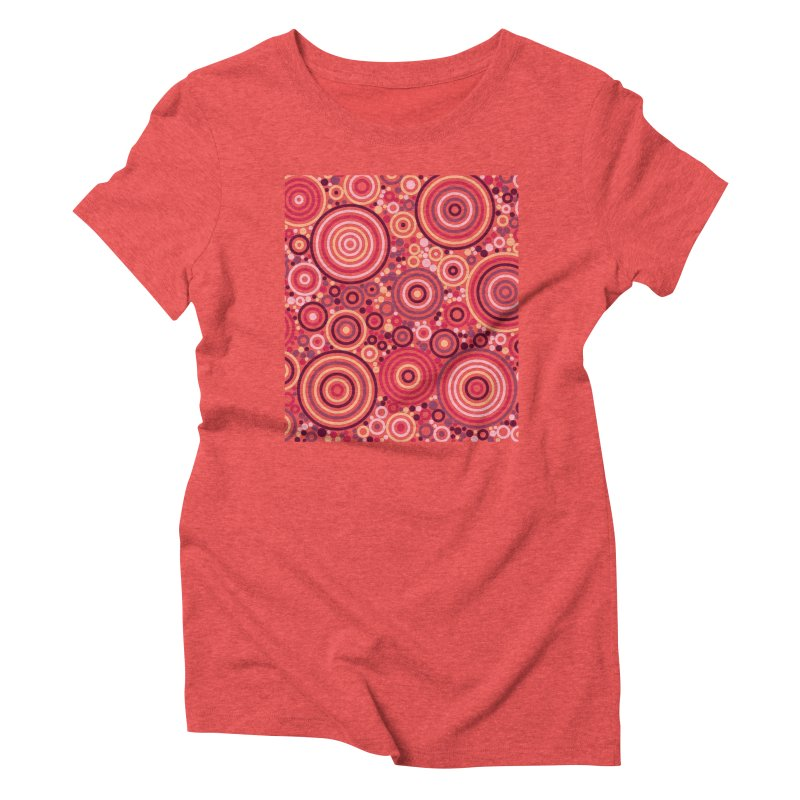 Concentric concentrate (reds) Women's Triblend T-Shirt by Robot Molecule