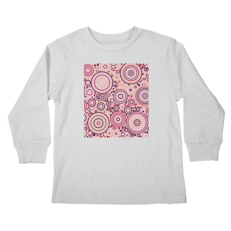 Concentric concentrate (reds) Kids Longsleeve T-Shirt by Robot Molecule