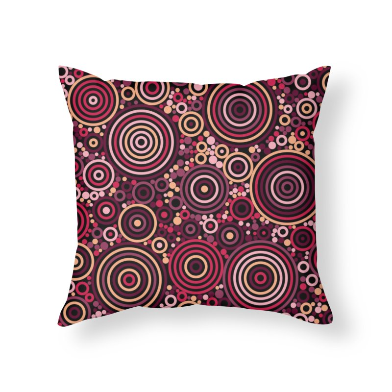 Concentric concentrate (reds) Home Throw Pillow by Robot Molecule