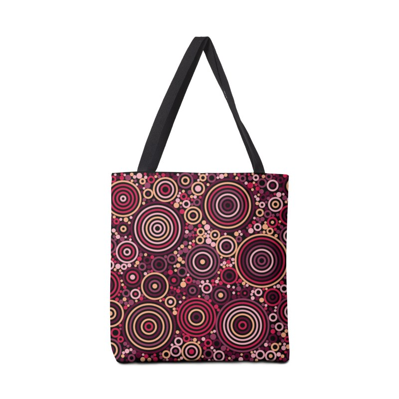 Concentric concentrate (reds) in Tote Bag by Robot Molecule