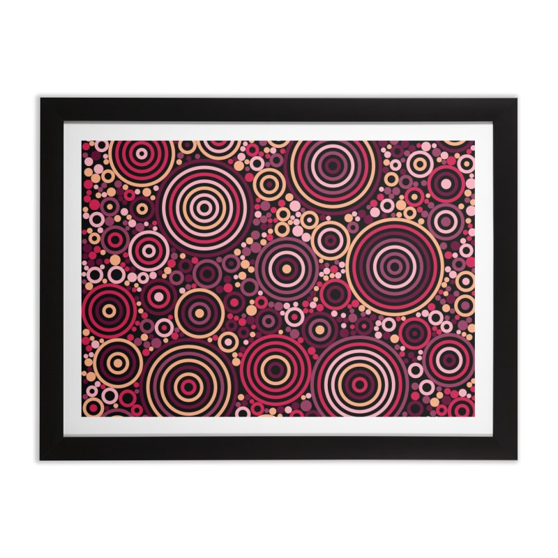 Concentric concentrate (reds) Home Framed Fine Art Print by Robot Molecule