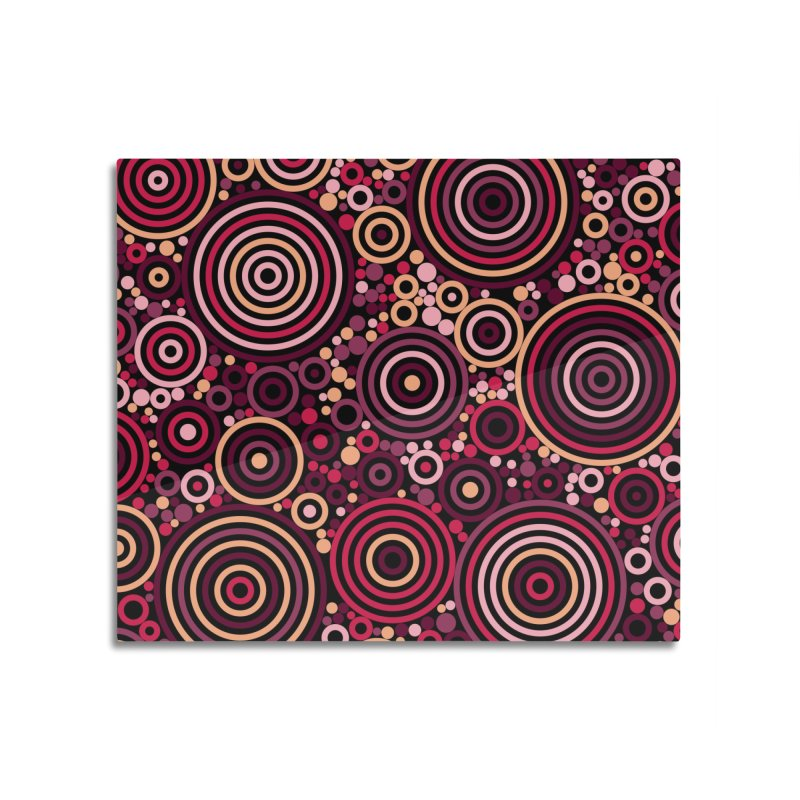 Concentric concentrate (reds) Home Mounted Acrylic Print by Robot Molecule