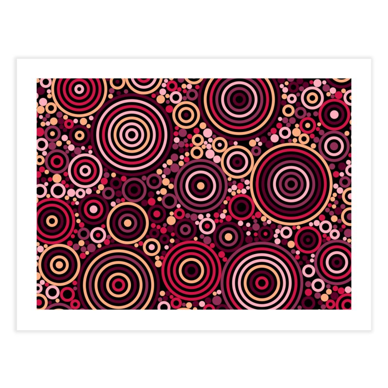 Concentric concentrate (reds) Home Fine Art Print by Robot Molecule
