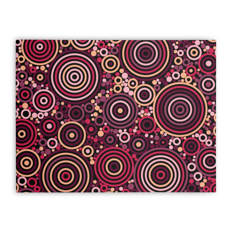 Concentric concentrate (reds) Home Stretched Canvas by Robot Molecule