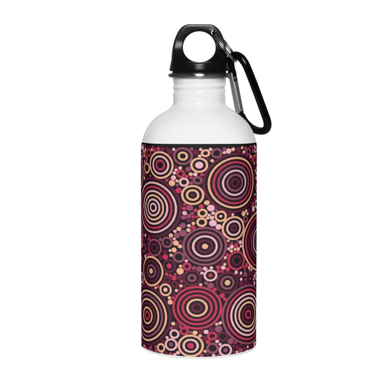 Concentric concentrate (reds) Accessories Water Bottle by Robot Molecule