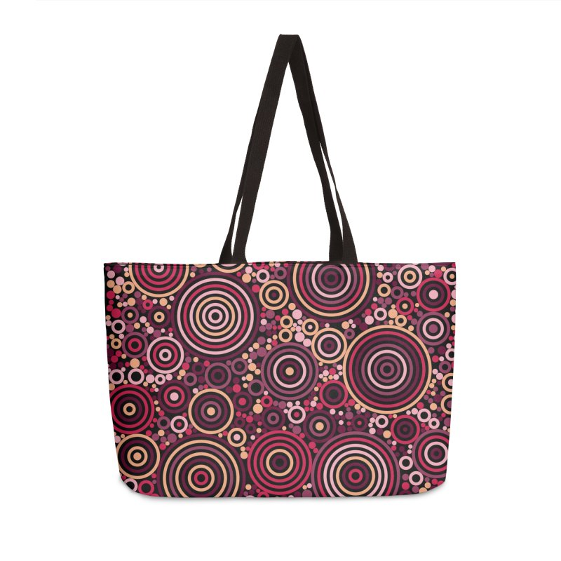 Concentric concentrate (reds) Accessories Weekender Bag Bag by Robot Molecule