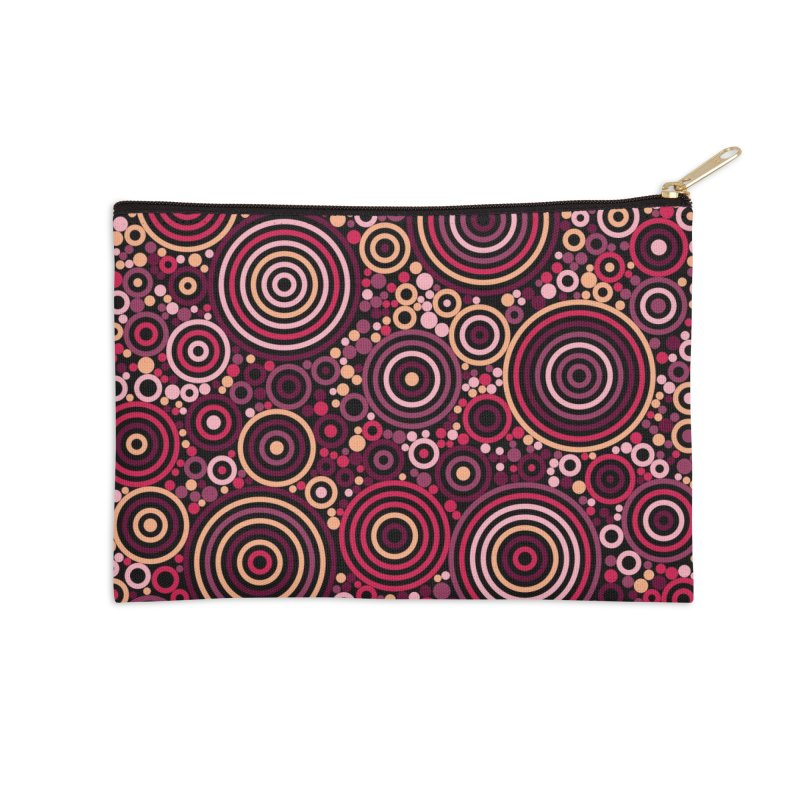 Concentric concentrate (reds) Accessories Zip Pouch by Robot Molecule