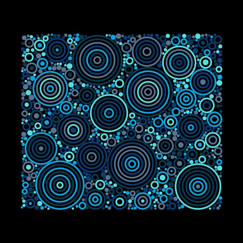 Concentric concentrate (blues) Home Mounted Aluminum Print by Robot Molecule
