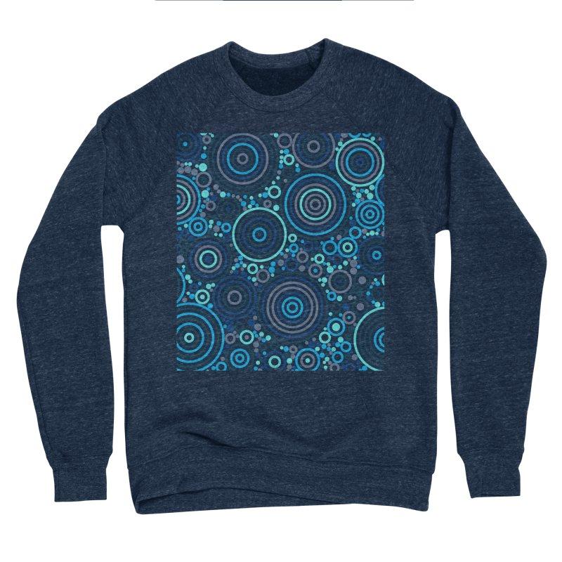 Concentric concentrate (blues) Men's Sweatshirt by Robot Molecule