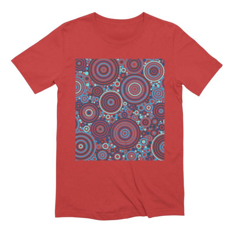 Concentric concentrate (blues) Men's T-Shirt by Robot Molecule