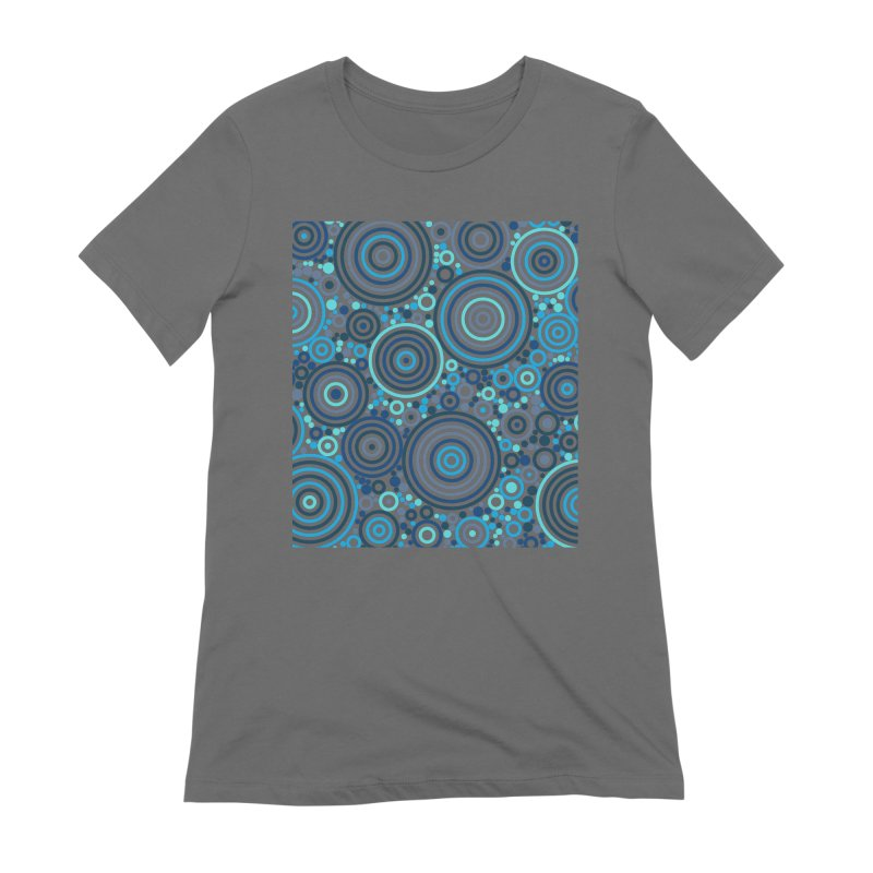 Concentric concentrate (blues) Women's Extra Soft T-Shirt by Robot Molecule