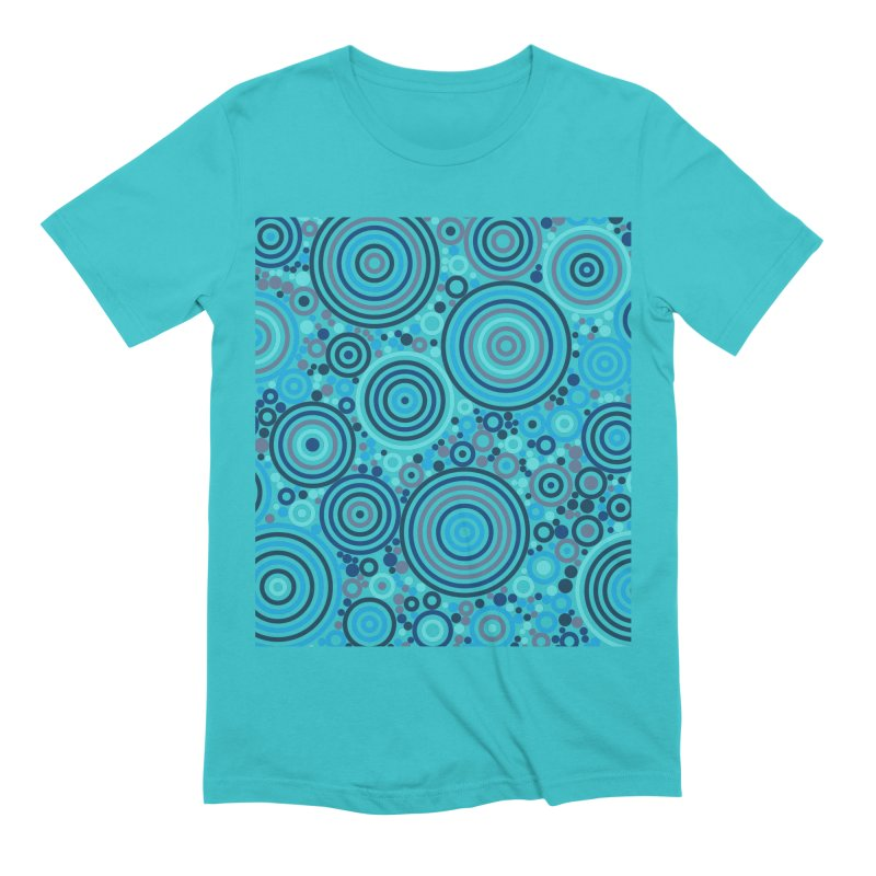 Concentric concentrate (blues) Men's Extra Soft T-Shirt by Robot Molecule