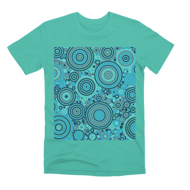 Concentric concentrate (blues) Men's Premium T-Shirt by Robot Molecule