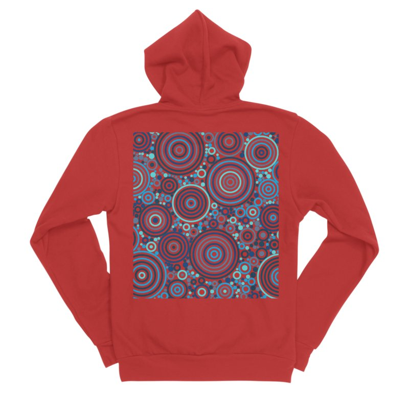 Concentric concentrate (blues) Men's Zip-Up Hoody by Robot Molecule