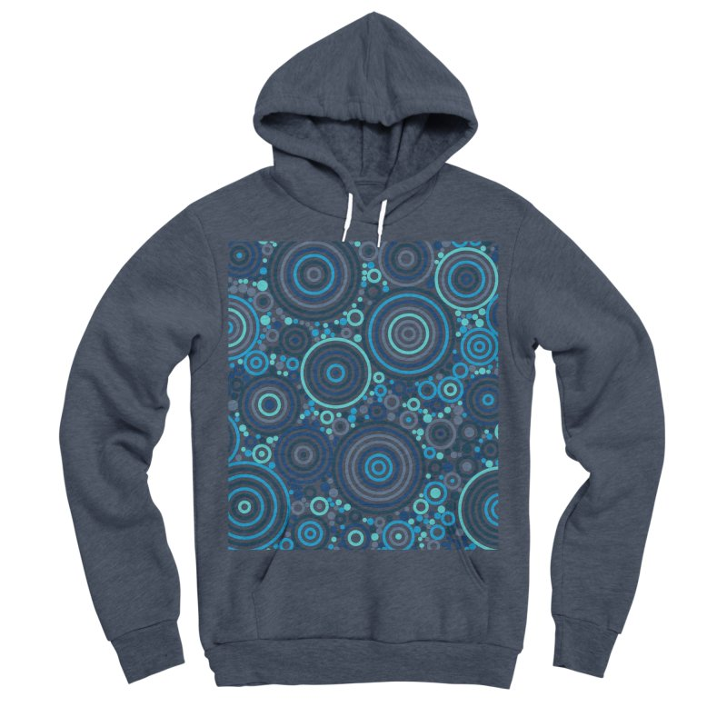 Concentric concentrate (blues) Women's Sponge Fleece Pullover Hoody by Robot Molecule